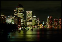 Brisbane reflected in the river at night. Brisbane, Queensland, Australia ( color)