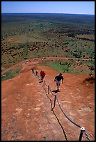 Ascending Ayers Rock. Uluru-Kata Tjuta National Park, Northern Territories, Australia ( color)