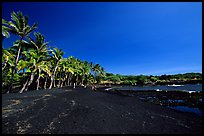 Black sand beach at Punaluu. Big Island, Hawaii, USA ( color)