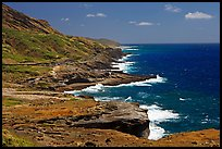 Coastline and highway, South-East. Oahu island, Hawaii, USA (color)