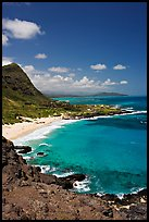 Makapuu Beach and bay. Oahu island, Hawaii, USA