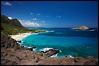 Makapuu Beach and Rabbit Island. Oahu island, Hawaii, USA