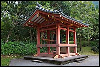 Bon-Sho, or sacred bell of Byodo-In temple. Oahu island, Hawaii, USA