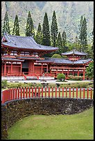 Byodo-In Temple. Oahu island, Hawaii, USA