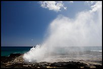 Spouting horn blow hole. Kauai island, Hawaii, USA (color)