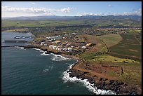 Aerial view of Port Allen. Kauai island, Hawaii, USA
