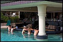 Swim-up bar, Princeville hotel. Kauai island, Hawaii, USA