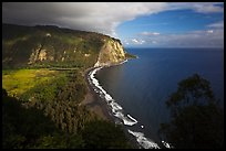 Waipio Valley and beach. Big Island, Hawaii, USA