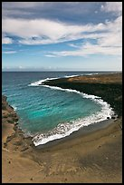 Green olivine sand beach. Big Island, Hawaii, USA ( color)