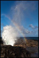 Spouting Horn, Poipu. Kauai island, Hawaii, USA (color)