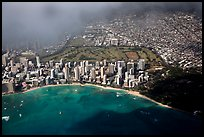 Aerial view of Kapiolani Park. Honolulu, Oahu island, Hawaii, USA