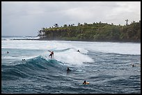 Surfers, Isaac Hale Beach. Big Island, Hawaii, USA (color)