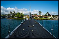Deck of the submarine USS Bowfin, World War 2 Valor in the Pacific National Monument. Oahu island, Hawaii, USA ( color)