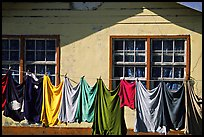 Laundry drying on clotheline in Tula. Tutuila, American Samoa (color)