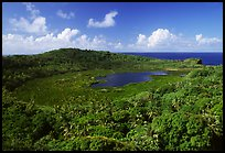 View of the island interior with Red Lake. Aunuu Island, American Samoa ( color)