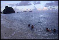 Children in the water. Tutuila, American Samoa