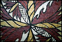 Siapo (bark cloth made from the inner bark of the paper mulberry tree) artwork. Pago Pago, Tutuila, American Samoa ( color)