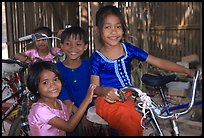 Children at the Apsara Arts  school. Phnom Penh, Cambodia (color)