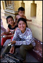 Children at Wat Phnom. Phnom Penh, Cambodia