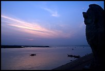 Sunrise over the Tonle Sap river,   Phnom Phen. Cambodia ( color)