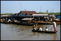 Houses along Tonle Sap river. Cambodia ( color)