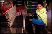 Traditional weaving in Ban Xang Hai village. Laos ( color)