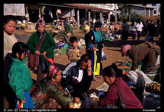 The Huay Xai market. Laos (color)