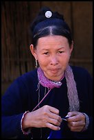 Woman of the Lao Huay tribe in Ban Nam Sang village. Laos ( color)