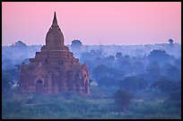 Pastel colors at dawn. Bagan, Myanmar ( color)