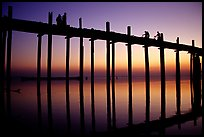 U Bein bridge at sunset. Amarapura, Myanmar ( color)