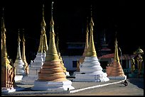 Stupas in Kalaw. Shan state, Myanmar (color)