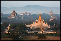 Aerial view of Ananda temple. Bagan, Myanmar ( color)