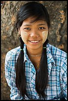Young woman with sweet smile, Ava. Myanmar ( color)