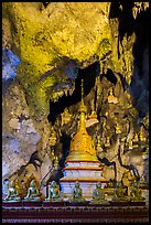 Cavern in the interior of Pindaya Caves. Pindaya, Myanmar ( color)