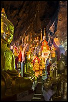 Labyrinth of buddha images in Pindaya Caves. Pindaya, Myanmar ( color)
