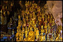 Buddha statues of all sizes near entrance of Pindaya Caves. Pindaya, Myanmar ( color)