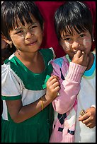 Two young friends, Nyaung Shwe. Inle Lake, Myanmar ( color)
