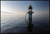 Shrine in the middle of the lake. Inle Lake, Myanmar ( color)