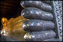 Largest reclining Budhha in Thailand, in Wat Pho. Bangkok, Thailand
