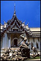 Temple in Ayuthaya style. Muang Boran, Thailand