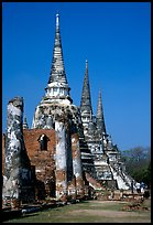 Ruined chedis. Ayutthaya, Thailand ( color)