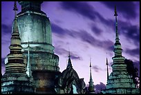 Wat Suan Dok temple at dusk. Chiang Mai, Thailand (color)