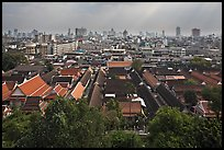 Temple complex and city skyline. Bangkok, Thailand ( color)