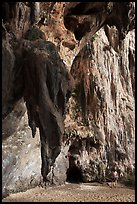 Rock climbers on limestone cliff, Railay. Krabi Province, Thailand