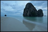 Happy Island reflected on beach, Railay. Krabi Province, Thailand ( color)