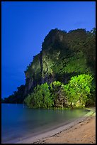 Railay East beach at night. Krabi Province, Thailand ( color)
