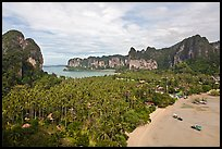 Railay peninsual seen from Laem Phra Nang. Krabi Province, Thailand (color)