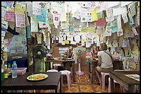 Pad Thai restaurant festoned with customer notes, Phi-Phi island. Krabi Province, Thailand