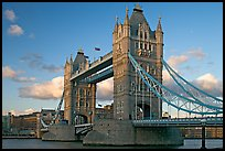 Close view of Tower Bridge, at sunset. London, England, United Kingdom ( color)