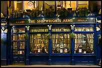 Pub The Shipwrights Arms at night. London, England, United Kingdom ( color)